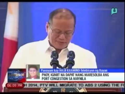 News@6: PNoy, iginiit na dapat nang maresolba ang port congestion sa Maynila