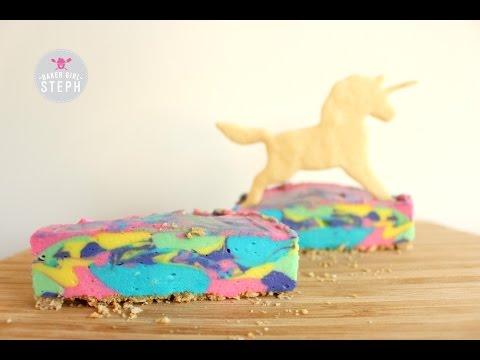 HOW TO MAKE A NO BAKE MINI UNICORN CHEESECAKE    BAKER GIRL STEPH