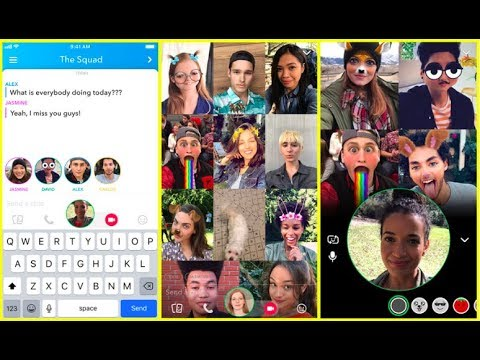 NEW Snapchat UPDATE! Group Video Chat!  2018