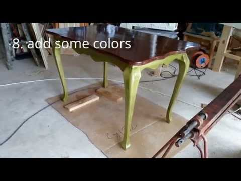 How to make cabriole leg dining table