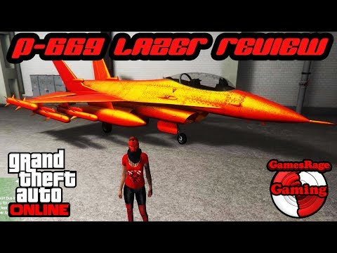 GTA5 : P-996 LAZER JET Full Upgrade + Review (*NEW WARSTOCK VEHICLE*) (*1.41*)