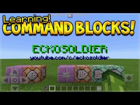 Learning Command Blocks Basics Minecraft Pocket Edition COMMAND BLOCKS Tutorial Guide (Minecraft PE)
