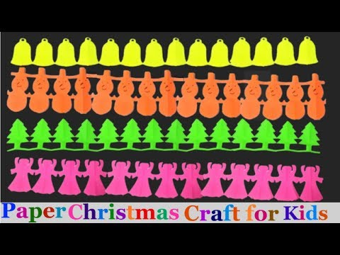paper Christmas Garlands tutorial/How to make paper chain for Christmas | Easy kids craft-Diy