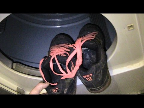 Life Hack - How To Dry Shoes In Dryer For Free Without Banging Around -
