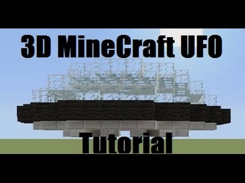 MineCraft Xbox 360 - How To Build A UFO Tutorial