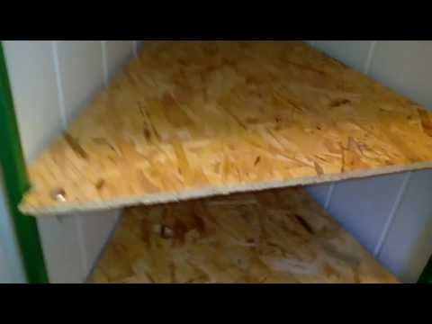 Homemade corner adjustable shelf