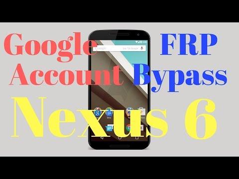 Motorola Nexus 6 BYPASS GOOGLE ACCOUNT REMOVE FRP 2016