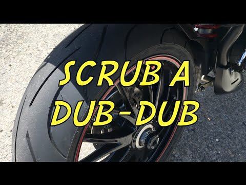 Scrubbing in a New Motorcycle Tire
