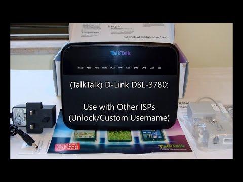 TalkTalk D-Link DSL-3780: Use with Other ISPs