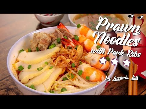 How to cook Prawn Noodles with Pork Ribs
