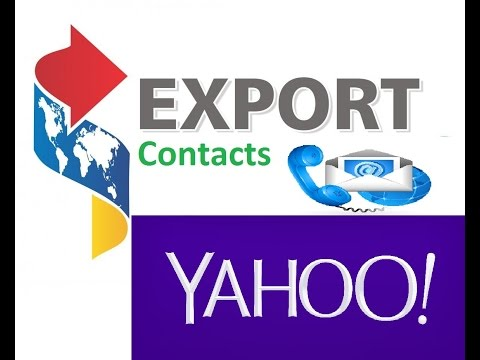 How to export contact in yahoo