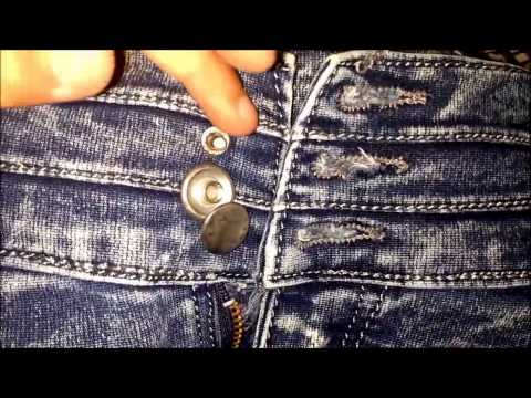 HOW TO FIX BROKEN JEANS  BUTTON NO-SEW