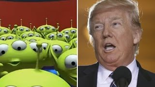 SPACE ALIENS Call Donald Trump Immigration Hotline!   What