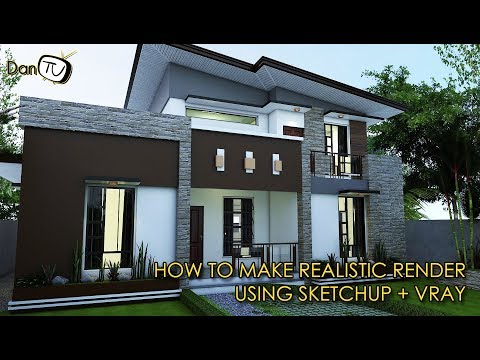 ✅How to Make Realistic Render using Sketchup and Vray (Tips, Tricks & Techniques) | Dan TV