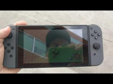 Playing Nintendo Switch Outdoors