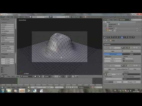 Blender Tutorial - How to make a volcano - Part 1