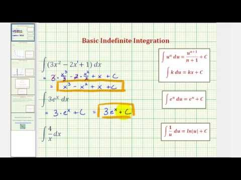 Ex: Basic Indefinite Integration (Polynomial, Exponential, Quotient)