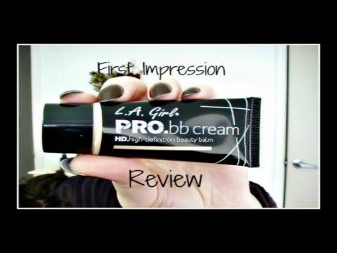 NEW!! LA Girl HD Pro BB cream First Impression/Review!