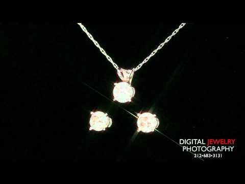 Diamond Stud Earrings And Pendant