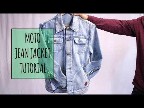 Denim Moto Zipper Jacket Tutorial