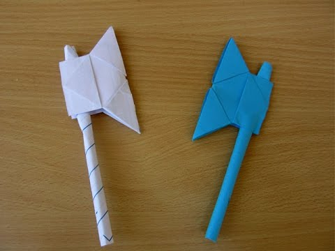 How to Make a Paper Battle Axe - Easy Tutorials