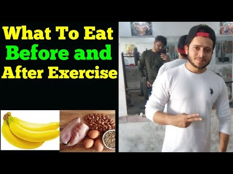 What to Eat Before and After Exercise in Hindi 2018   Pre and Post workout Diet   Skyking Health