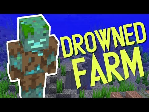 How to make an effective Drowned Farm in Minecraft!