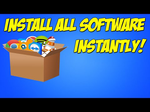PC Tutorial: How to Install ALL Your Software INSTANTLY - Ninite Installer