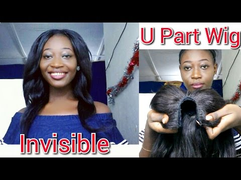 How To Install a U Part Wig With Leave-Out | Invisible Part| Begginer Friendly