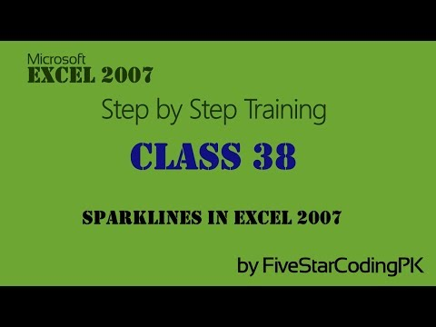 Microsoft Excel Training in Urdu Class-38 Sparklines in Excel 2007