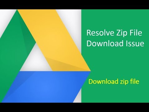 How to resolve issue with zip file downloading from google drive