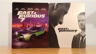 Fast and Furious 7 Cover B and Media Markt Germany Exclusive Steelbook Unboxing