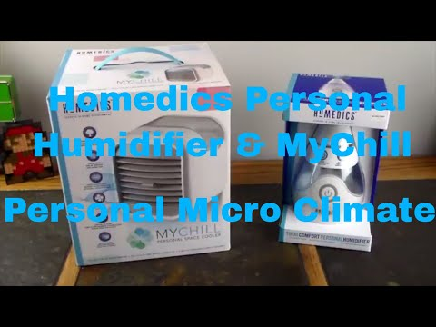 Create Your Own Personal Micro Climate With The Homedics MyChill & Humidifier
