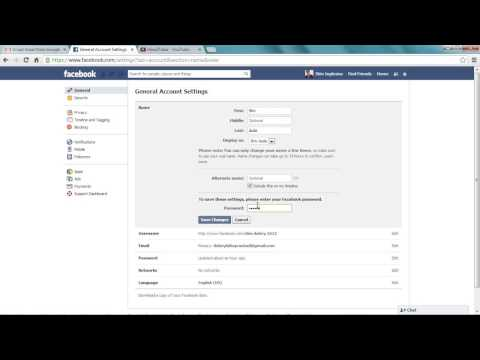 how to change your name on facebook 2014