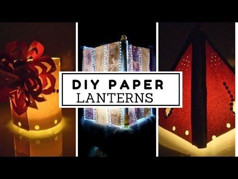 How to Make PaperLanterns /hanging paper lanterns/Decoration Ideas