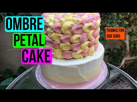 300 Subscriber Special! HOW TO MAKE AN OMBRE PETAL CAKE - EPISODE 43 Baking With Ryan