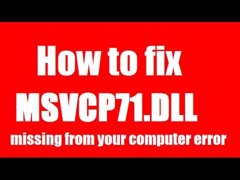 ✓✓✓ How To Fix msvcp71.dll Missing Error Windows 10/8.1/7