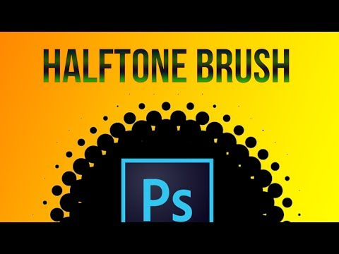Photoshop 60sec : How to make a halftone brush