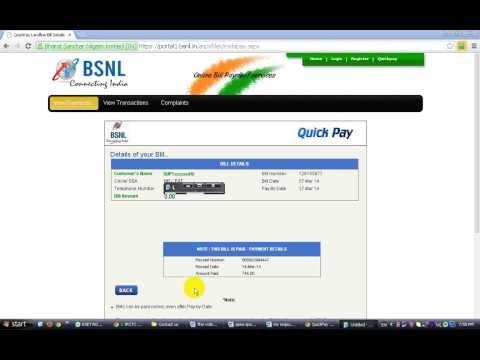 Bsnl landline ka monthly bill bina kisi registration kiye online pay kaise kare - video tutorial