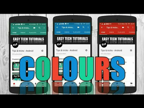 How To Change Youtube Channel Layout Colors On Android |