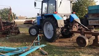Трактор МТЗ 82.1 вспашка огородов