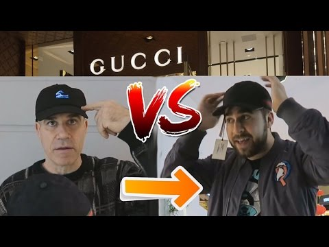 1ST TIME BUYING GUCCI! DAD GETS MAD! $8 HAT VS $350 HAT!