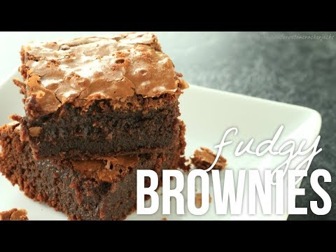 Homemade Fudgy Brownies!! How to Make Fudge Brownie Recipe