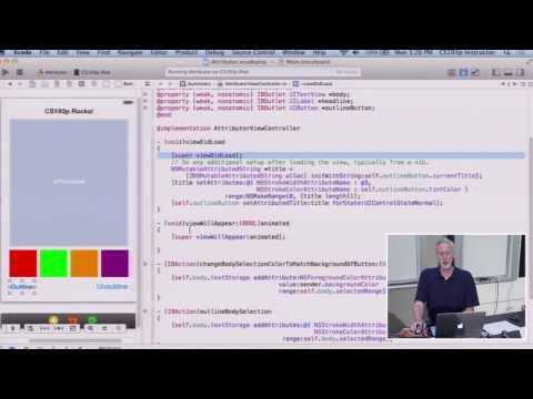 Stanford University Developing iOS 7 Apps: Lecture 5 - View Controller Lifecycle