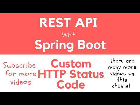 REST API with Spring Boot - Return Custom HTTP Status Code from RESTful Web Service Endpoint
