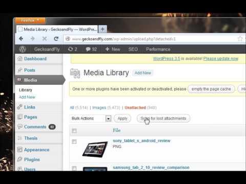 TUTORIAL: Find unattach photos or images within Wordpress
