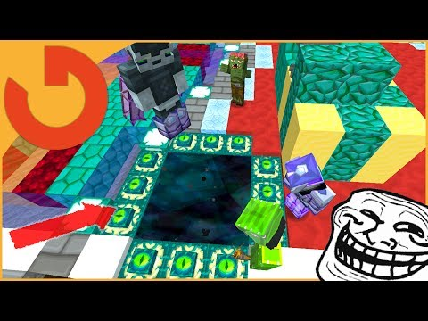 OPENING END PORTAL IN PLAYER HOME! (Minecraft Trolling)