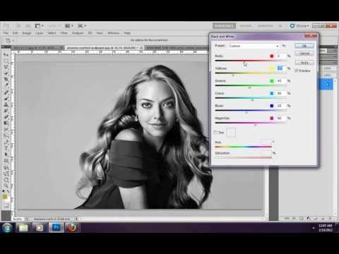 Photoshop cs5 tutorial in hindi color balance, black and white and photo filter chapter 6