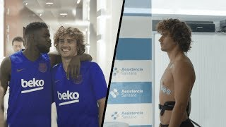 Griezmann's First Day in Barcelona
