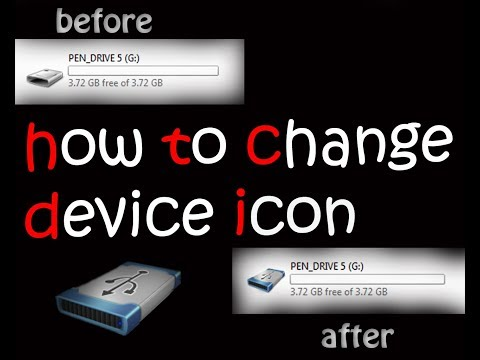 how to change device icon